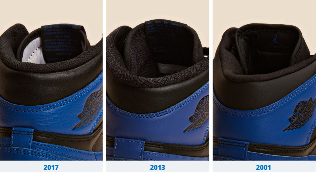 29af0b5e0ce128 There s less padding on the 2013 retro compared to the 2001 and 2017 pairs